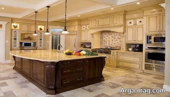 طرح کابینت آشپز خانه ساده