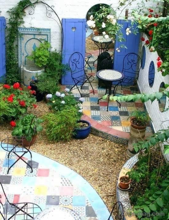 انواع نمونه های زیبای مدل باغ کوچک