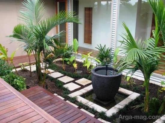 مجموعه ای زیبا و متنوع از الگوی باغ کوچک