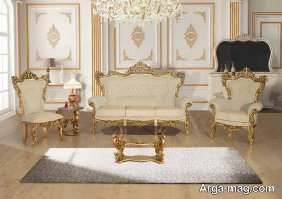 مدلی از چیدمان مبلمان سلطنتی