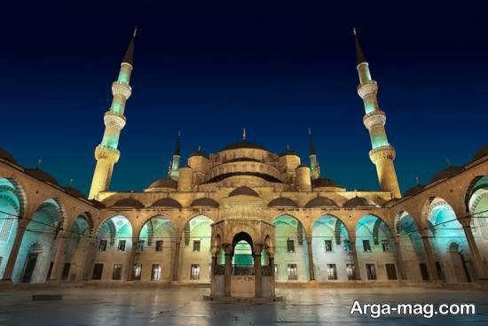 عبادتگاه سلطان احمد در شهر استانبول با شش مناره