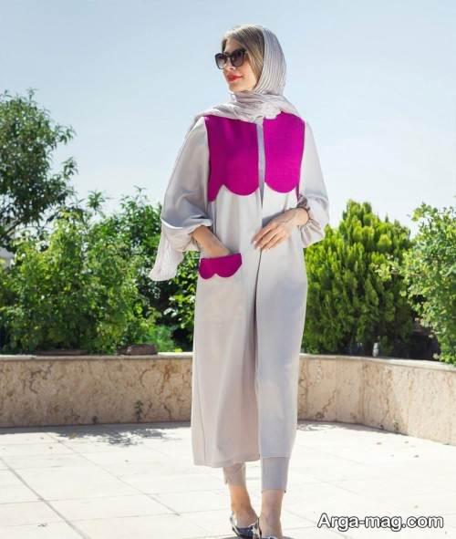 مدل مانتو دو رنگ و زیبا تابستانی