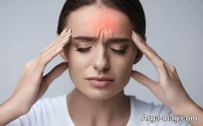 حساسیت نسبت به لمس دور پیشانی از علائم سردرد است