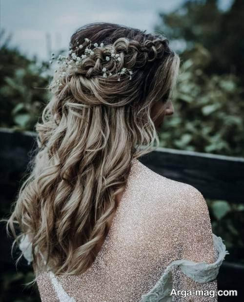 شینیون موی باز برای عروس