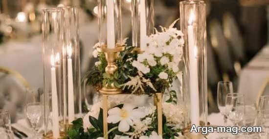 تزیینات جشن عروسی با شمع و گل