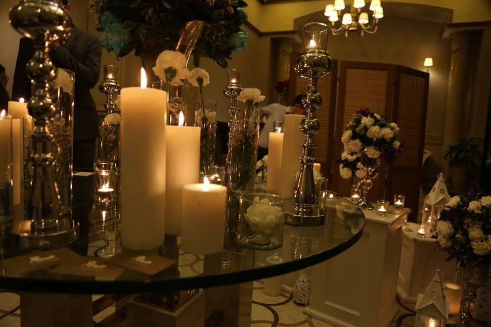 شمع آرایی عروسی زیبا و جدید