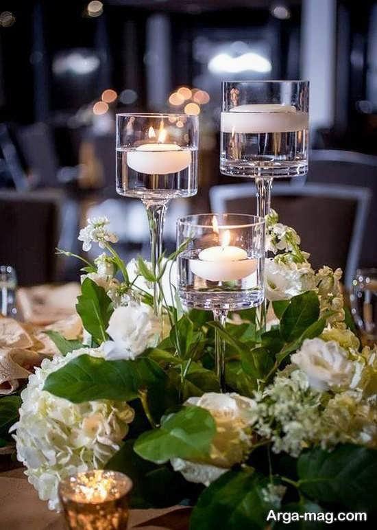 تزیین زیبای عروسی با شمع
