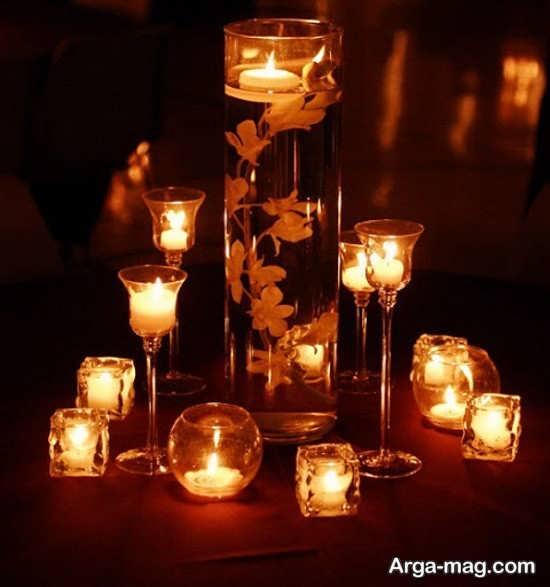 تزیینات شمع زیبا برای عروسی