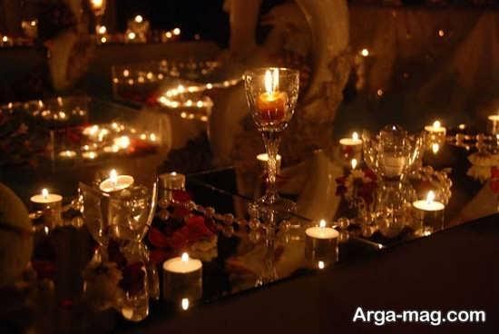 شمع آرایی عروسی+عکس