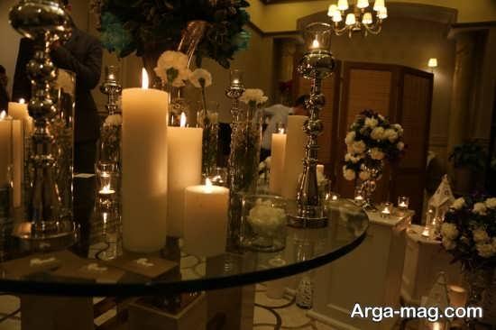 تصاویری از تزیین شمع مجلس عروسی