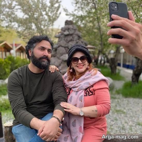 بهاره رهنما در کنار همسرش با تتوی روی دستش/عکس
