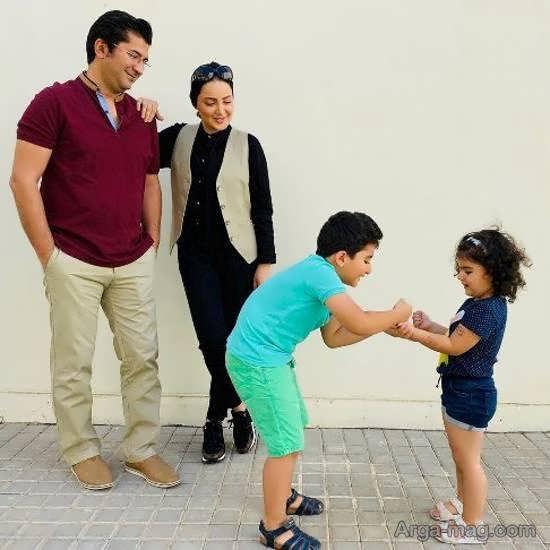 شیلا خداداد در جمع خانواده چهار نفره اش