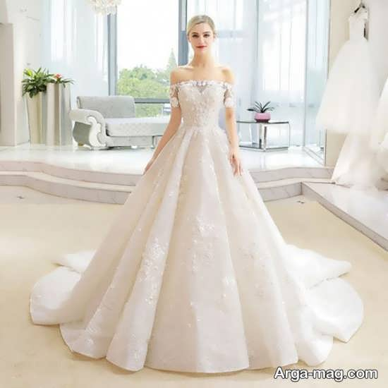 انتخاب لباس عروس دنباله دار