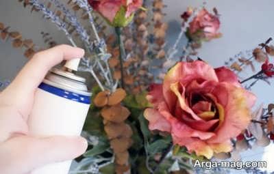 تمیز کردن گلهای مصنوعی
