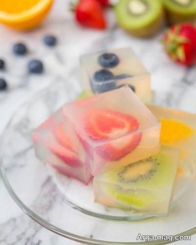 ژله میوه ای خوشمزه