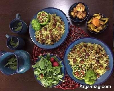 تزیین کلم پلوی شیرازی