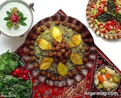 روش تهیه کلم پلو شیرازی