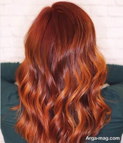 مدل رنگ مو مسی ماهگونی