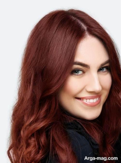 رنگ موی زنانه مسی ماهگونی