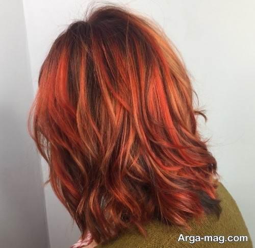 رنگ مو زیبا و خاص مسی ماهگونی