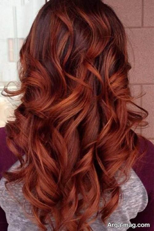 رنگ مو جذاب مسی ماهگونی