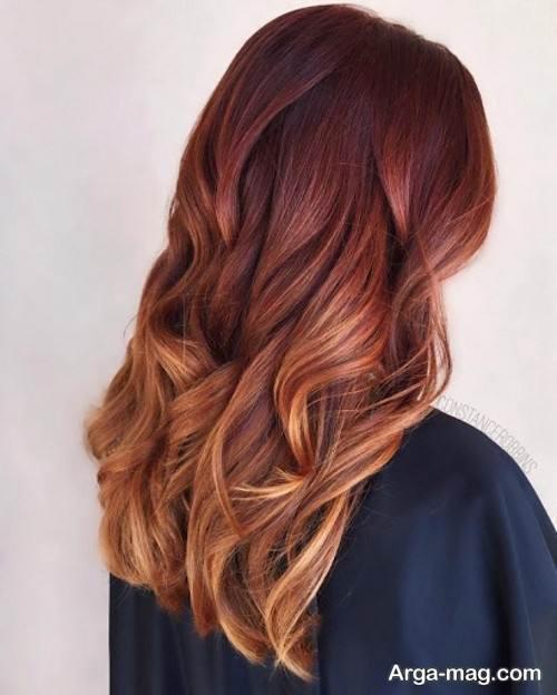 رنگ مو زنانه مسی ماهگونی