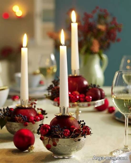 تزیین میز با شمع برای مراسم و مناسبت های مختلف