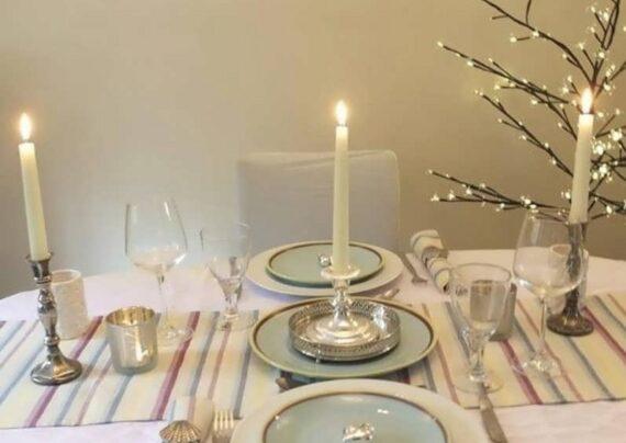 ایده تزیین میز با شمع