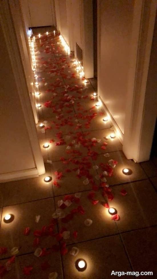 تزیین شمع برای جشن تولد رمانتیک