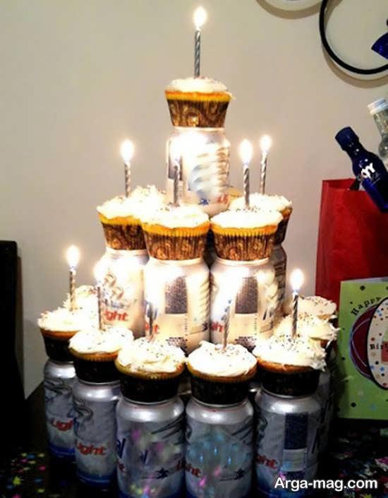 تزیین شمع برای جشن تولد قشنگ