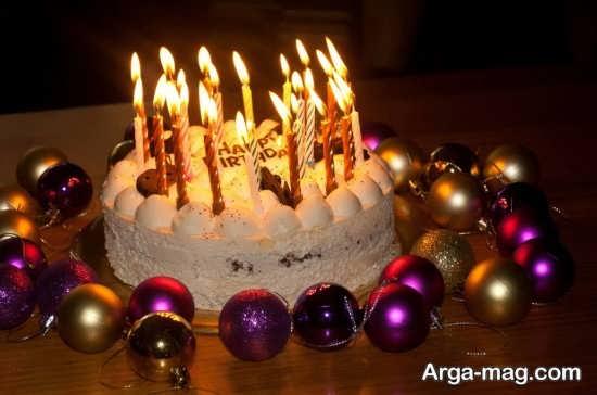 جدیدترین تزیینات تولد با شمع