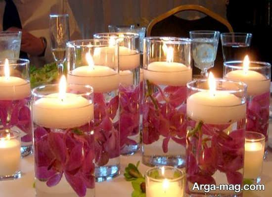 مدل تزیینات تولد با شمع