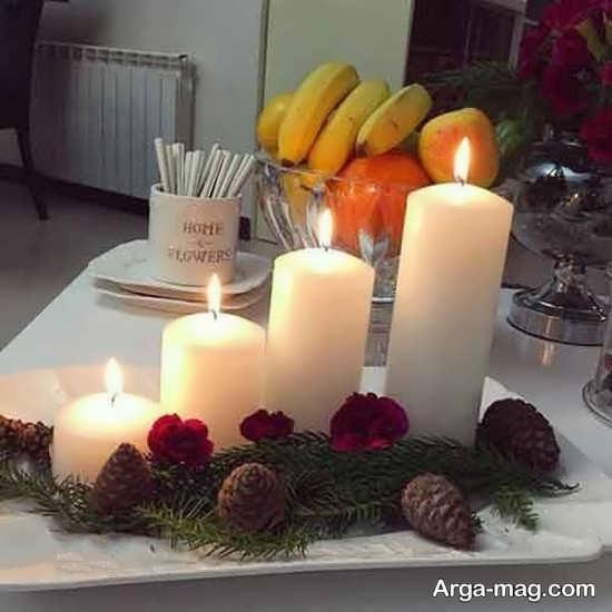 تزیینات تولد شیک با شمع