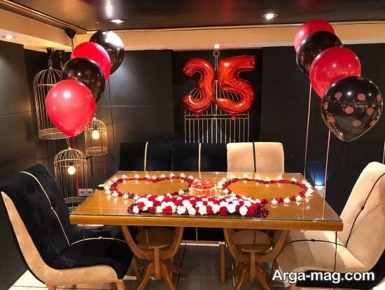 تزیینات تولد زیبا با شمع