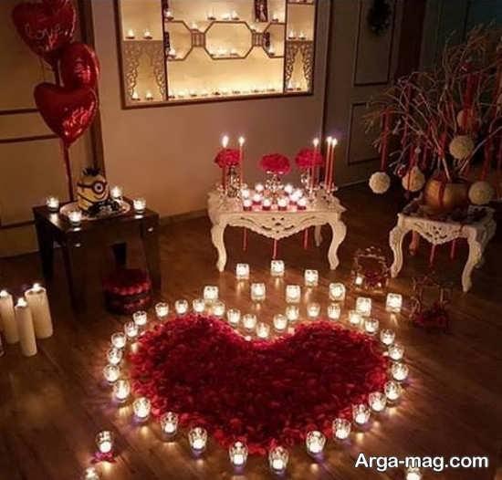 تزیینات عاشقانه تولد با شمع