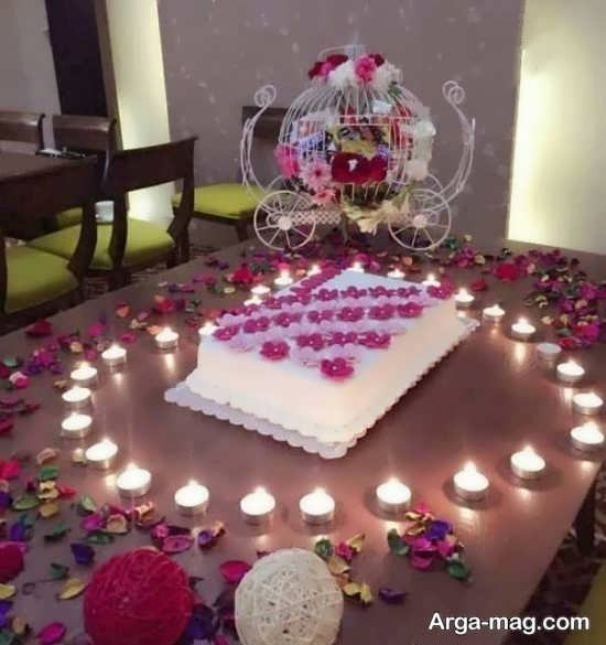 تزیینات لاکچری تولد با شمع