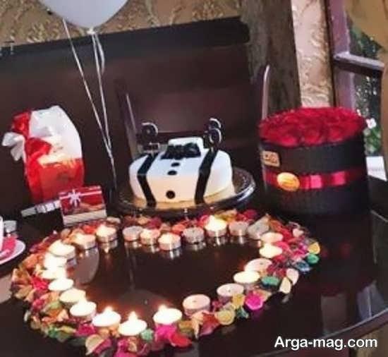 تزیینات خاص تولد با شمع