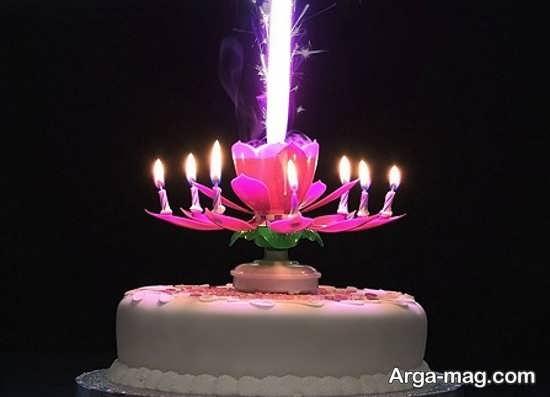 تزیینات شیک تولد با شمع