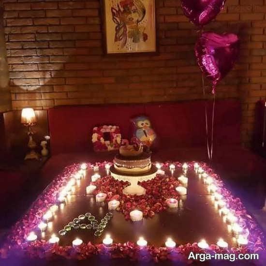 تزیینات زیبای تولد با شمع