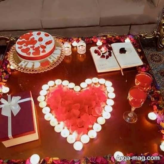 تزیین تولد عاشقانه و زیبا با شمع