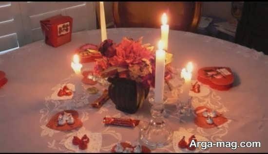 مدل تزیین تولد با شمع