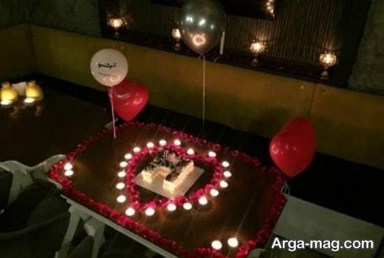 تزیین جشن تولد زیبا با شمع