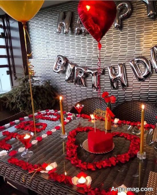تزیین لاکچری تولد با شمع
