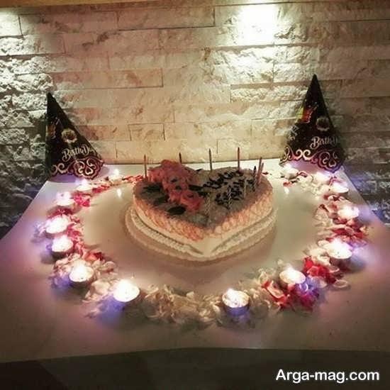 تزیین خاص تولد با شمع