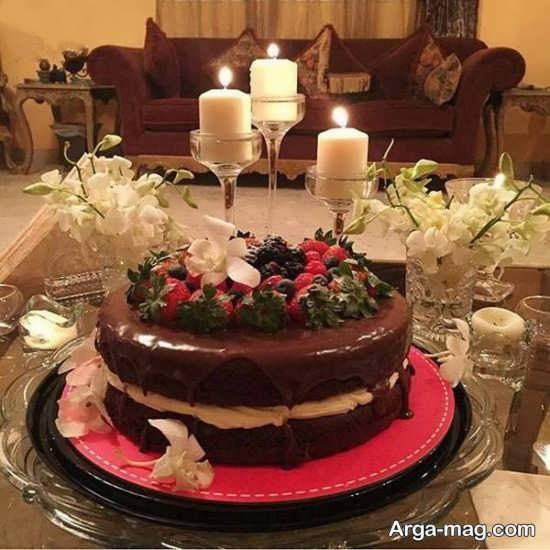 شمع آرایی تولد زیبا