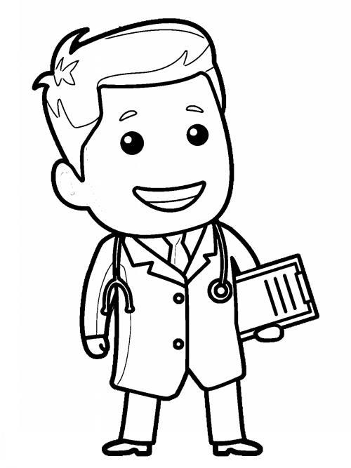 رنگ آمیزی دکتر برای بچه ها