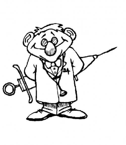 نقاشی دکتر با رنگ آمیزی های جالب