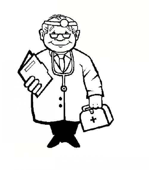 نقاشی دکتر برای کودکان دختر و پسر