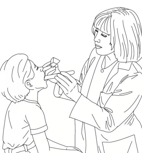 نقاشی دکتر برای کودکان