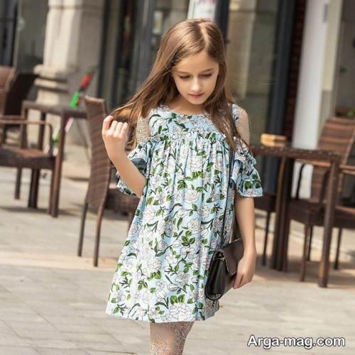 لباس طرح دار دخترانه